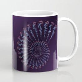 Tribal Mermaid Spiral Shell on Violet Coffee Mug