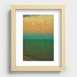 Sea ~ Moon Recessed Framed Print