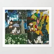 City and Country Art Print
