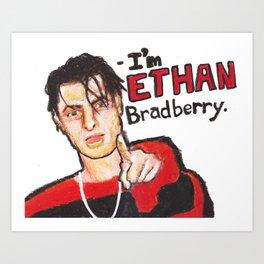 I'M ETHAN BRADBERRY H3H3 meme in oil pastel Art Print