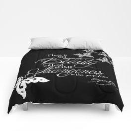 Strange Skullerflies - EA Poe Quote Comforters