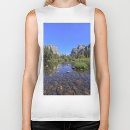 Yosemite and mirror lake Biker Tank