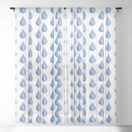 Waterdrop Pattern #1 Sheer Curtain