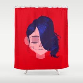 see through girl 3 Shower Curtain