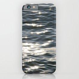 Blue Sea Sparkle   Photography Landscape   Water   Minimal Art iPhone Case