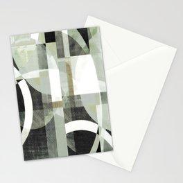 sage green art, sage green, boho art, mid century modern, geometric art, geometric print, abstract Stationery Cards