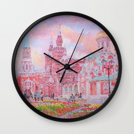 The Cathedral of Kazan Mother of God on Red Square Wall Clock