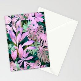 Tropical Night Magenta & Emerald Jungle Stationery Cards