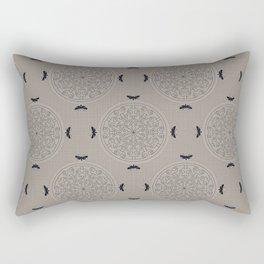 Mascara Rosette Lace Rectangular Pillow