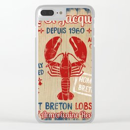 Le St-Jacques Lobster Shack Clear iPhone Case