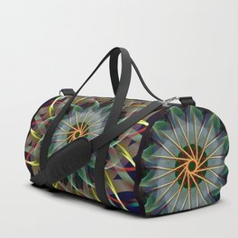 Perfectly swirling ribbons, fractal abstract Duffle Bag