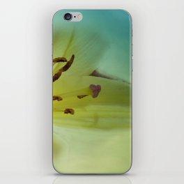 yellow and cyan iPhone Skin