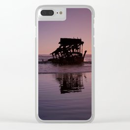 Peter Iredale Shipwreck at Fort Stevens State Park, Oregon. 2 Clear iPhone Case