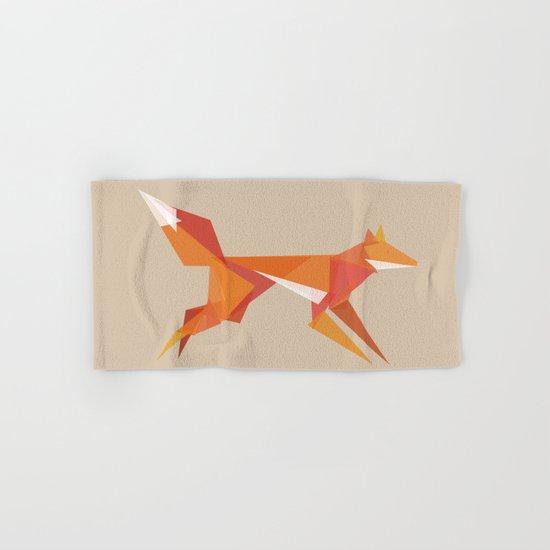 Fractal geometric fox Hand & Bath Towel