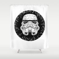 stormtrooper Shower Curtains featuring stormtrooper by Tarik Ali Sert