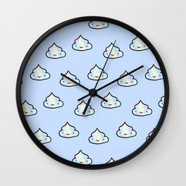 Holographic poop Wall Clock