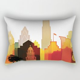 Austin colorful skyline Rectangular Pillow