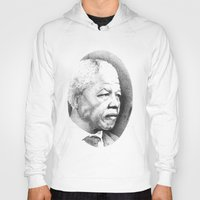 mandela Hoodies featuring Nelson Mandela by Daniel Point