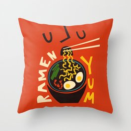Yum Ramen Throw Pillow