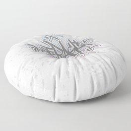 Average Joe - Handstyle - Cyan Magenta Grey Floor Pillow
