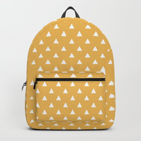 mustard yellow triangle pattern by 16floor