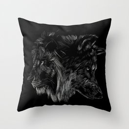 The Wolf is King Throw Pillow