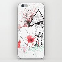 hipster iPhone & iPod Skins featuring Hipster by ArDem