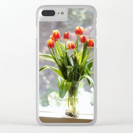 Spring - Tulips Clear iPhone Case