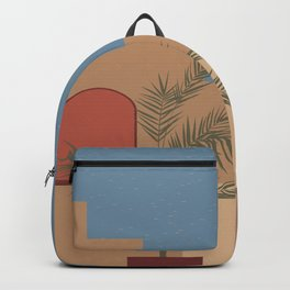 Travelling. Abstract boho vintage travel and vacation theme art print Backpack
