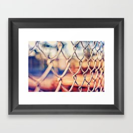Fence Bokeh Framed Art Print