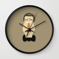 "muppet Wall Clocks featuring ""Muppet of a Man"" by ThoughtfulWish"