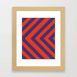 Patriotic pattern Framed Art Print