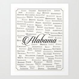 Alabama Art Print