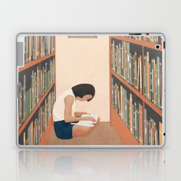 Getting Lost in a Book Laptop & iPad Skin