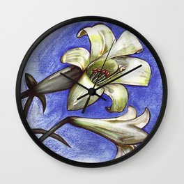 Easter Lily Wall Clock