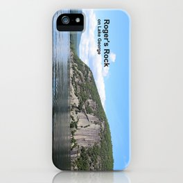 Roger's Rock on Lake George in the Adirondacks iPhone Case