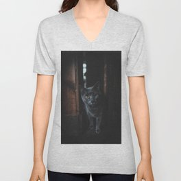 Cat by allison christine Unisex V-Neck