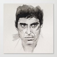 scarface Canvas Prints featuring SCARFACE by sefibz