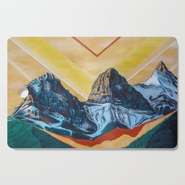 Three Sister Mountains Cutting Board