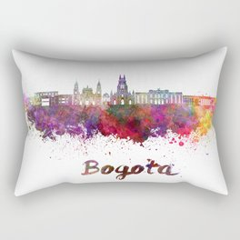 Bogota skyline in watercolor Rectangular Pillow