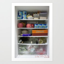 Fridge Candies Oct 1   [REFRIGERATOR] [FRIDGE] [WEIRD] [FRESH] Art Print