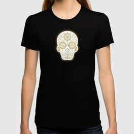 Día de Muertos Calavera • Mexican Sugar Skull – Turquoise & Gold Palette T-shirt
