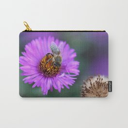 Bee on a violet flower Carry-All Pouch