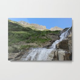 Water on the Rocks Metal Print