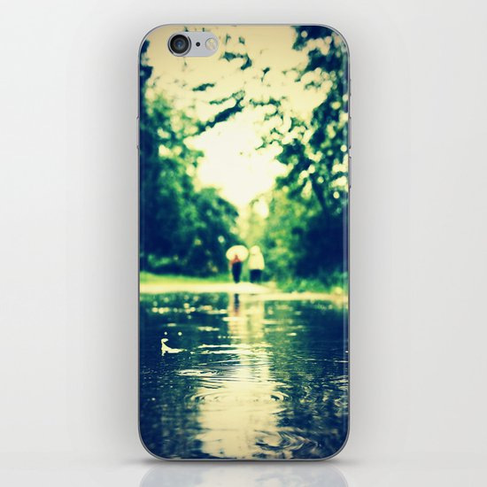 A rainy walk iPhone & iPod Skin