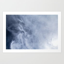 The sky of Brittany Art Print