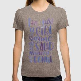 I'm just a girl staring at a salad T-shirt