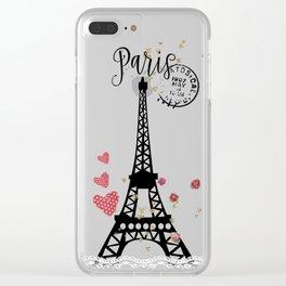Paris II Clear iPhone Case
