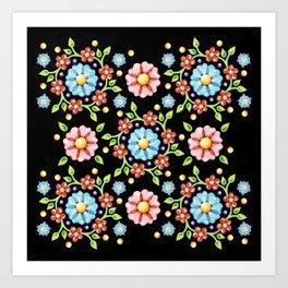 Millefiori Folkloric Pinwheel Art Print