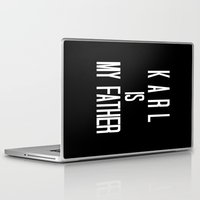 karl Laptop & iPad Skins featuring KARL IS MY FATHER by Beauty Killer Art